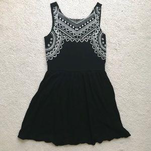 Xhilaration Little Black Dress with Front Detail